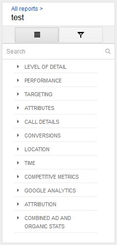 report metrics adwords