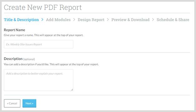 moz create report