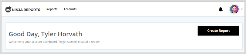 ninja reports create report