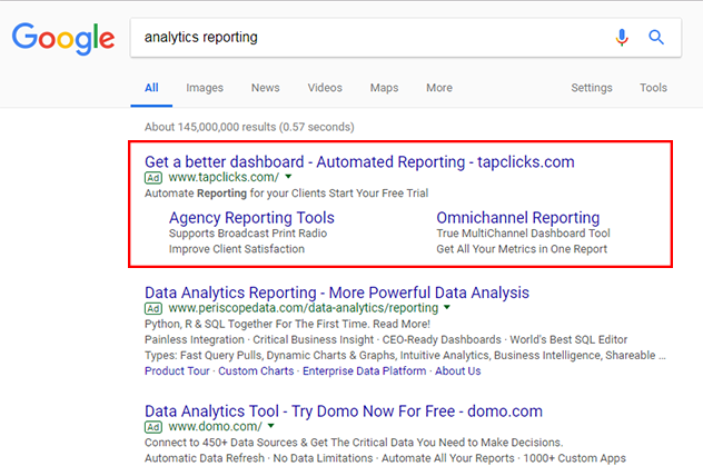 sitelinks google adwords hack