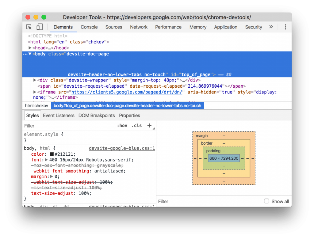 elements panel seo tool google chrome