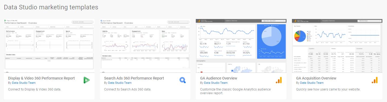 data studio marketing templates
