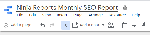 google data studio update report name