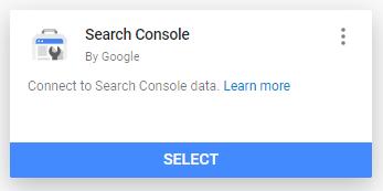 search console data source google data studio
