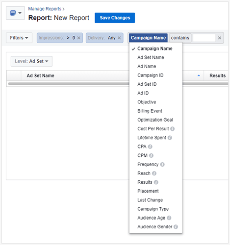 facebook ads reporting email schedule