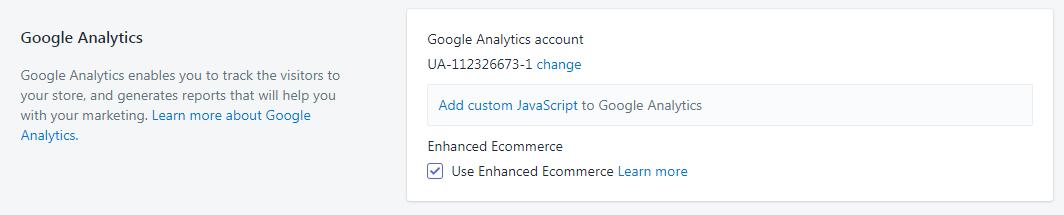 shopify google analytics