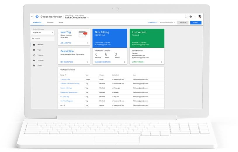 google tag manager seo tool