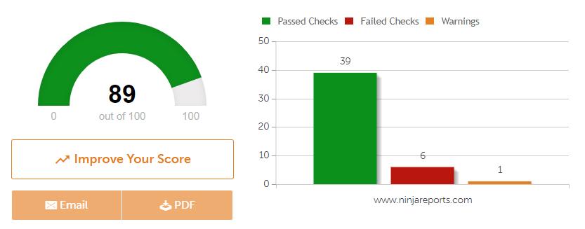 seo site checkup seo speed test tool