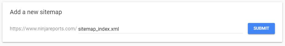 add new sitemap google