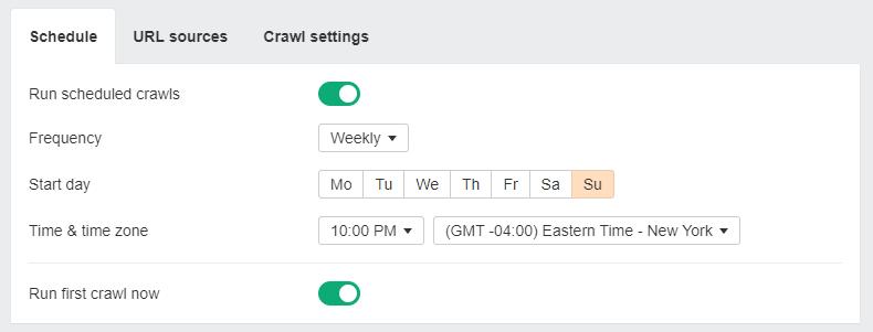 ahrefs schedule crawl