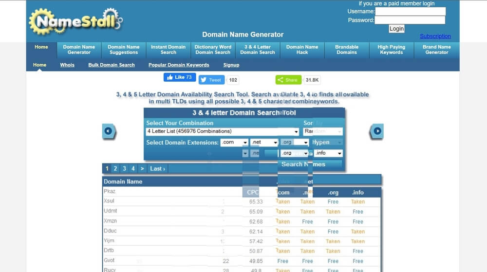 Name Stall Domain name